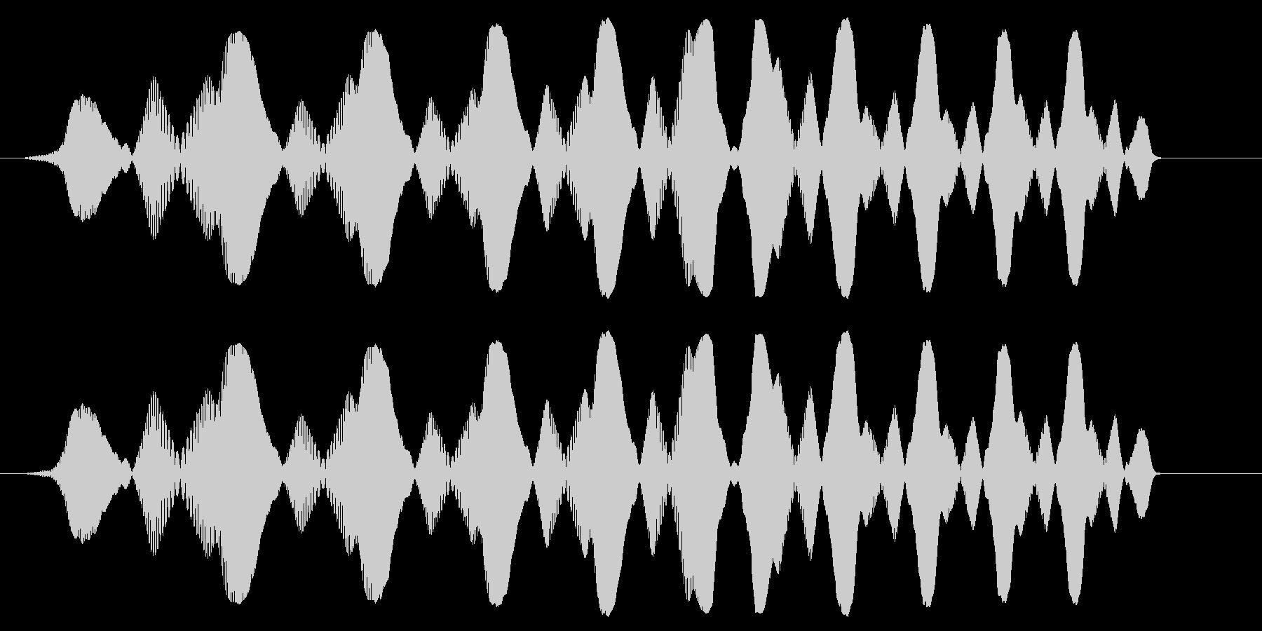 ぴよよよよ〜ん(コミカルなジャンプ音)の未再生の波形