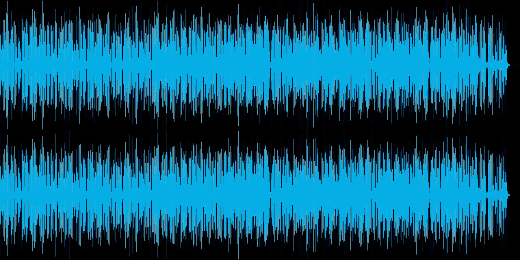 軽快で滑らかな印象のジャズの再生済みの波形