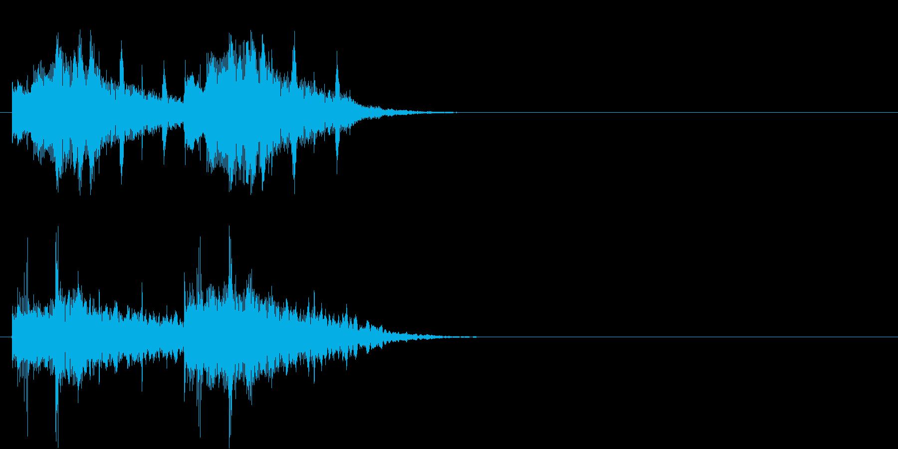 ジングル(なぜ?なに?クイズ思案中風)の再生済みの波形