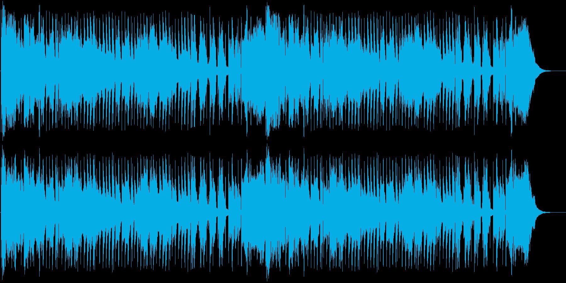 三拍子のリズムに陽気なアコーディオンの再生済みの波形