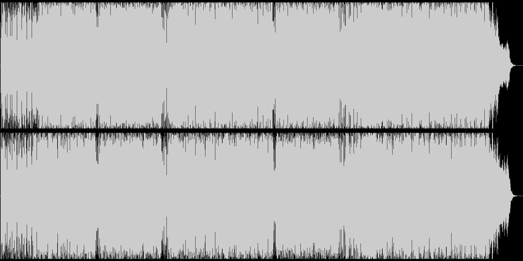 ピアノとブラスが絡むワクワクするインストの未再生の波形