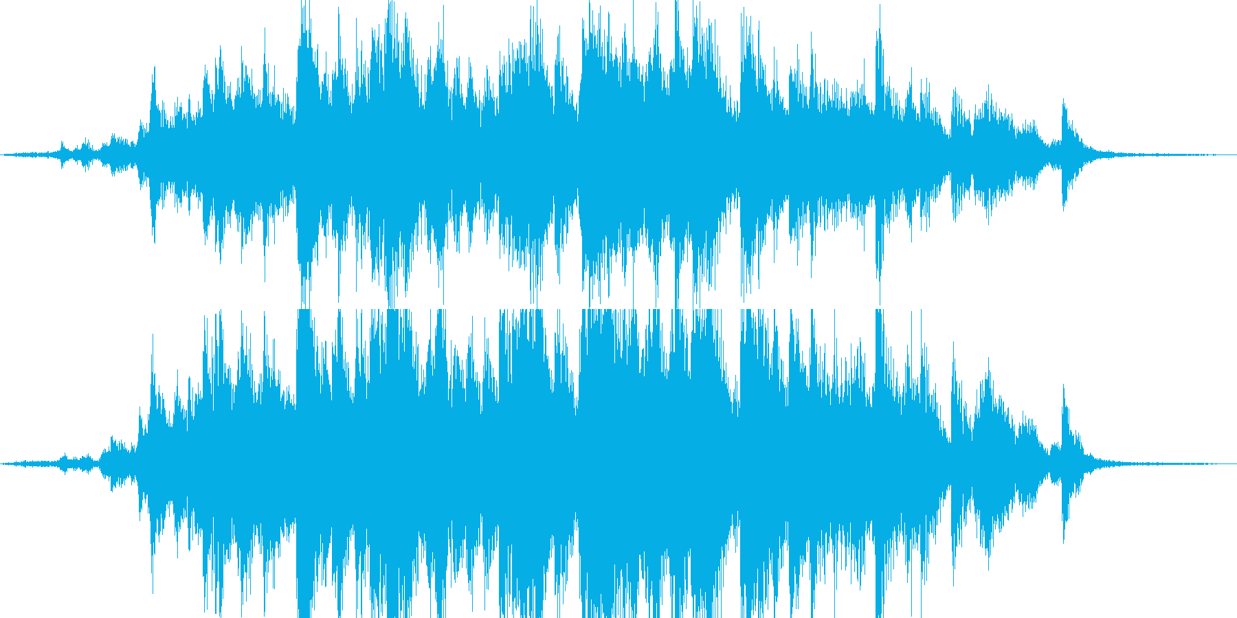 カラカランカラ!神社の鐘の音 の再生済みの波形