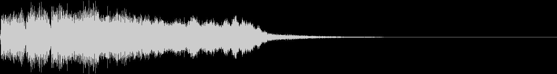SE ポワーン クイズ出題前 上昇音 5の未再生の波形