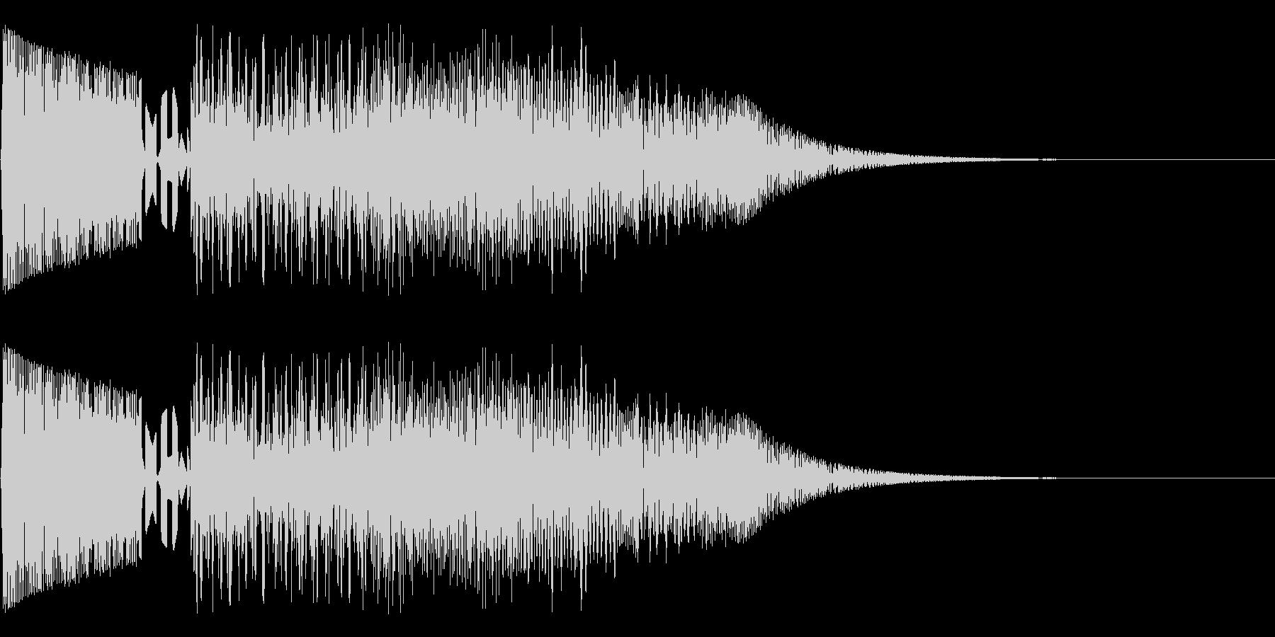 バシャッ03(水・液体系のアクション音)の未再生の波形