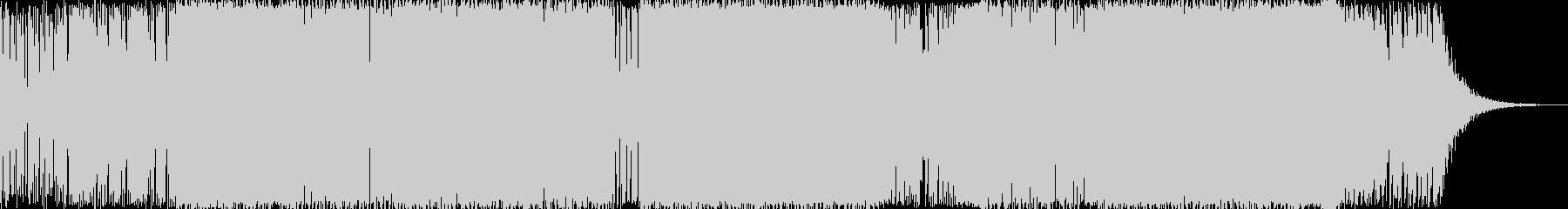 ブリブリしたベースが印象的なテクノ曲の未再生の波形