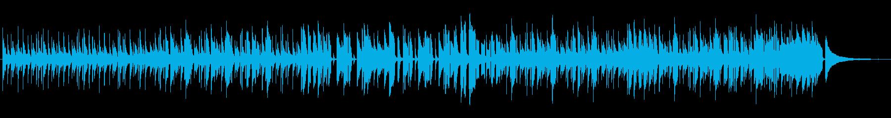 ほのぼのと散歩をするときの曲の再生済みの波形