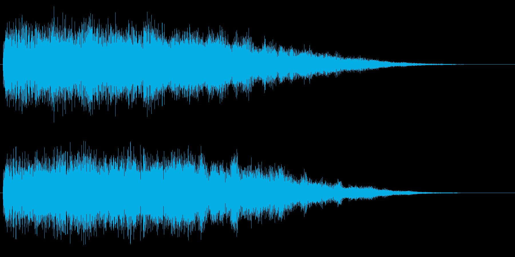 ハデめな場面転換の音 シーン切り替え音の再生済みの波形