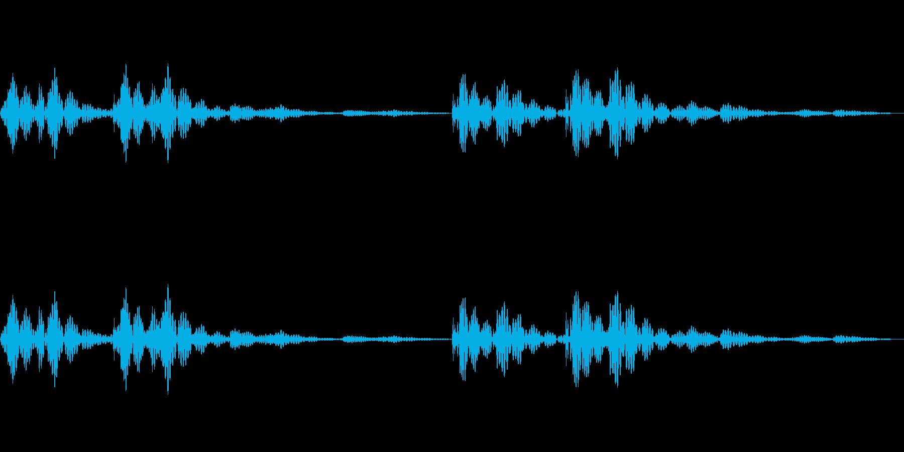 緊張している時の心臓の音の再生済みの波形