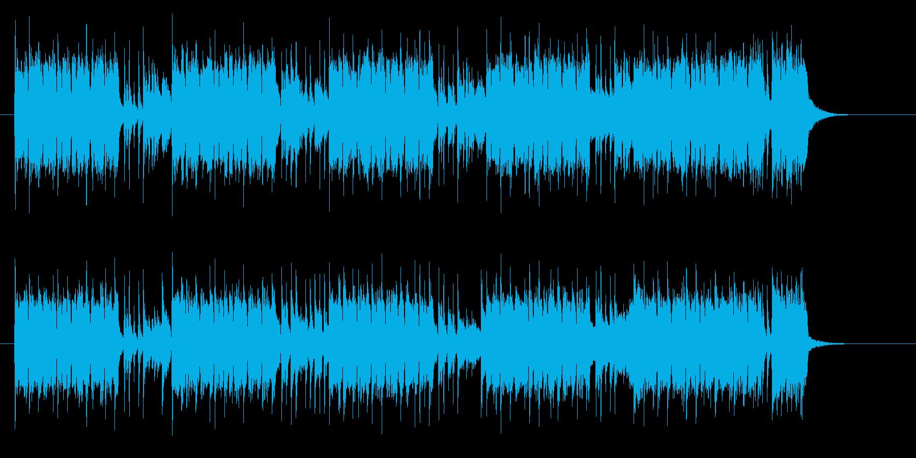 ユニークでベースが印象的なロックの再生済みの波形