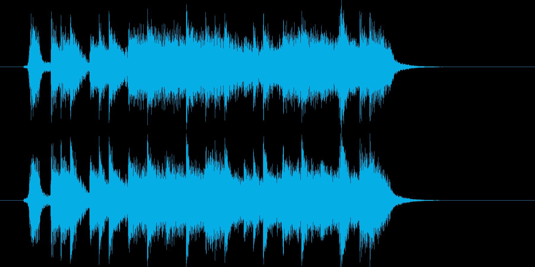男らしい熱いハードロックの再生済みの波形