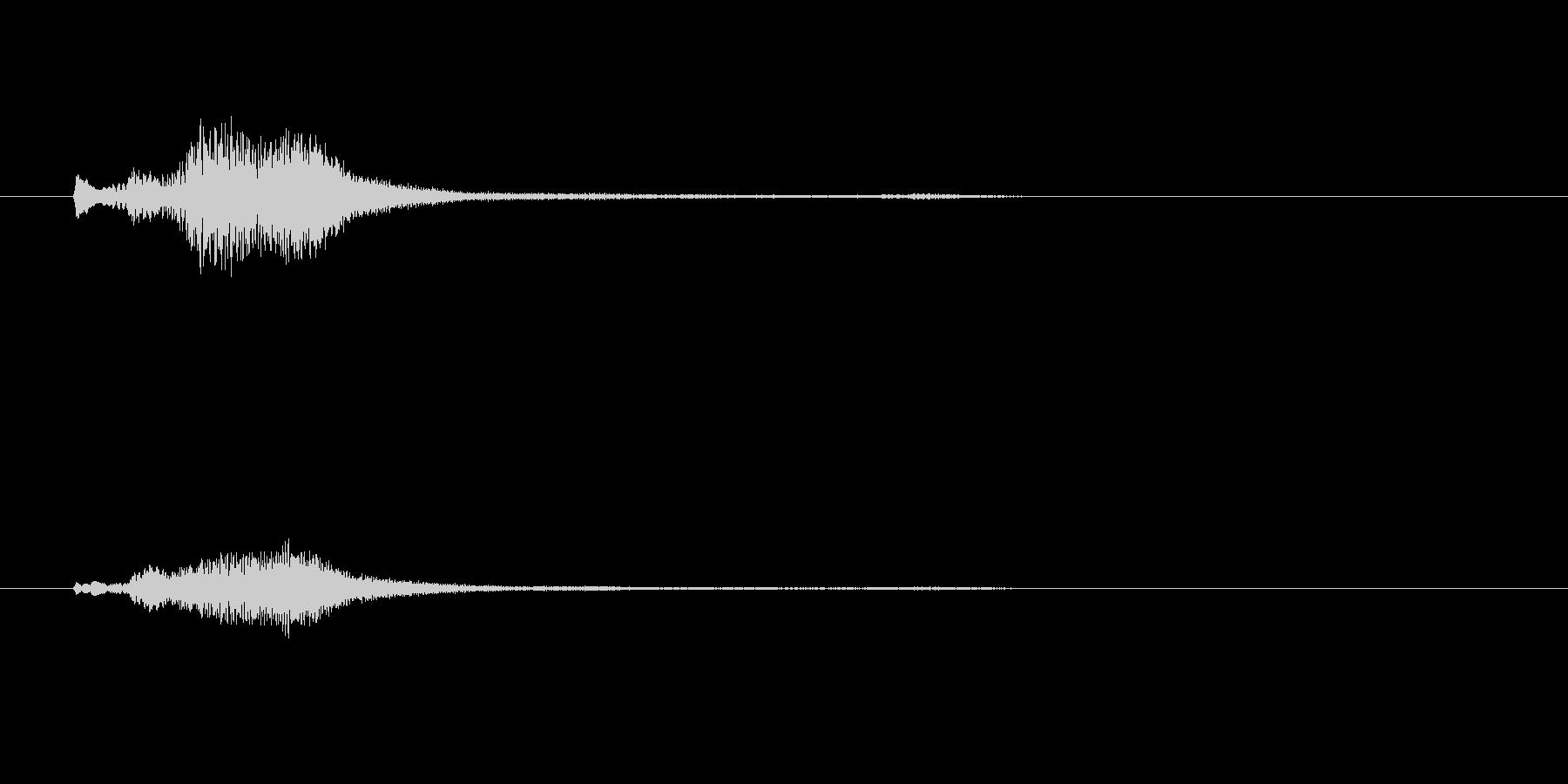 グランドハープのグリッサンド inAの未再生の波形