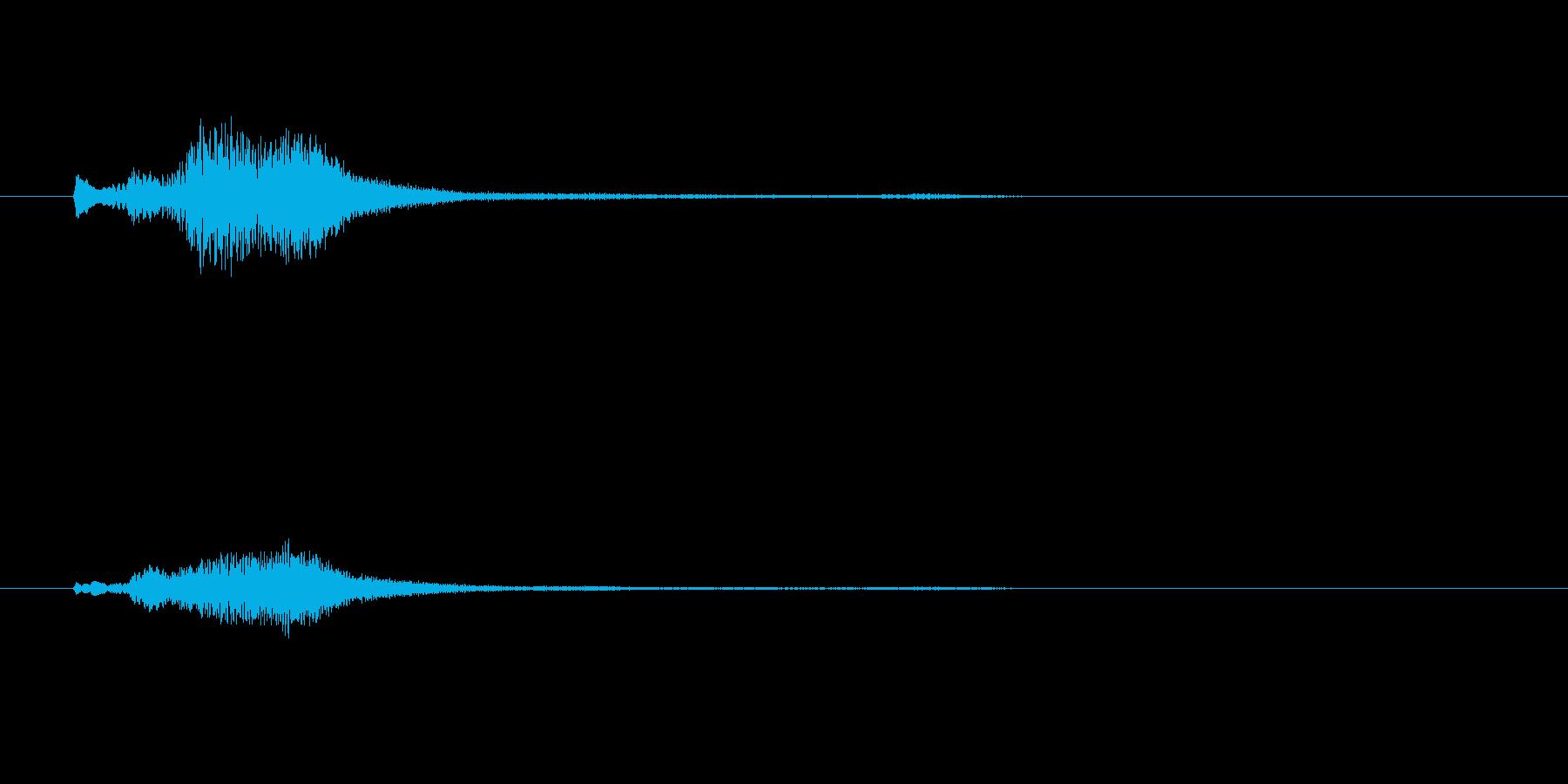 グランドハープのグリッサンド inAの再生済みの波形