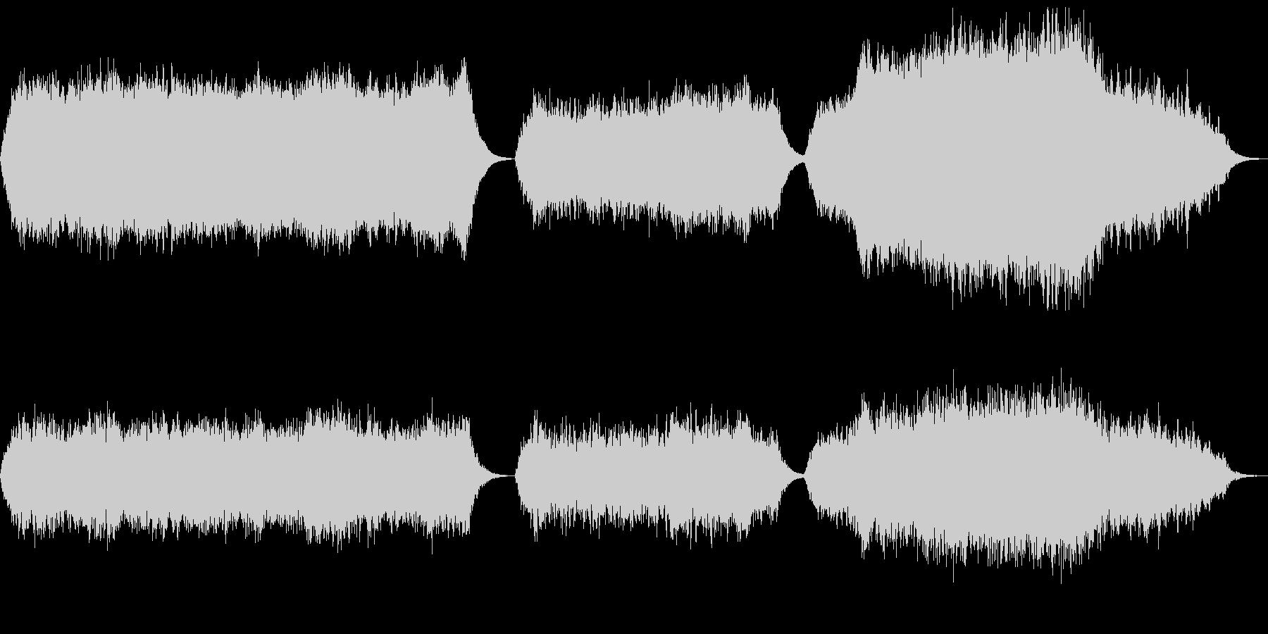 シンセパッドによる音響素材の未再生の波形