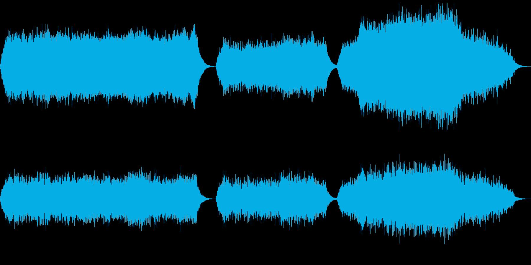 シンセパッドによる音響素材の再生済みの波形