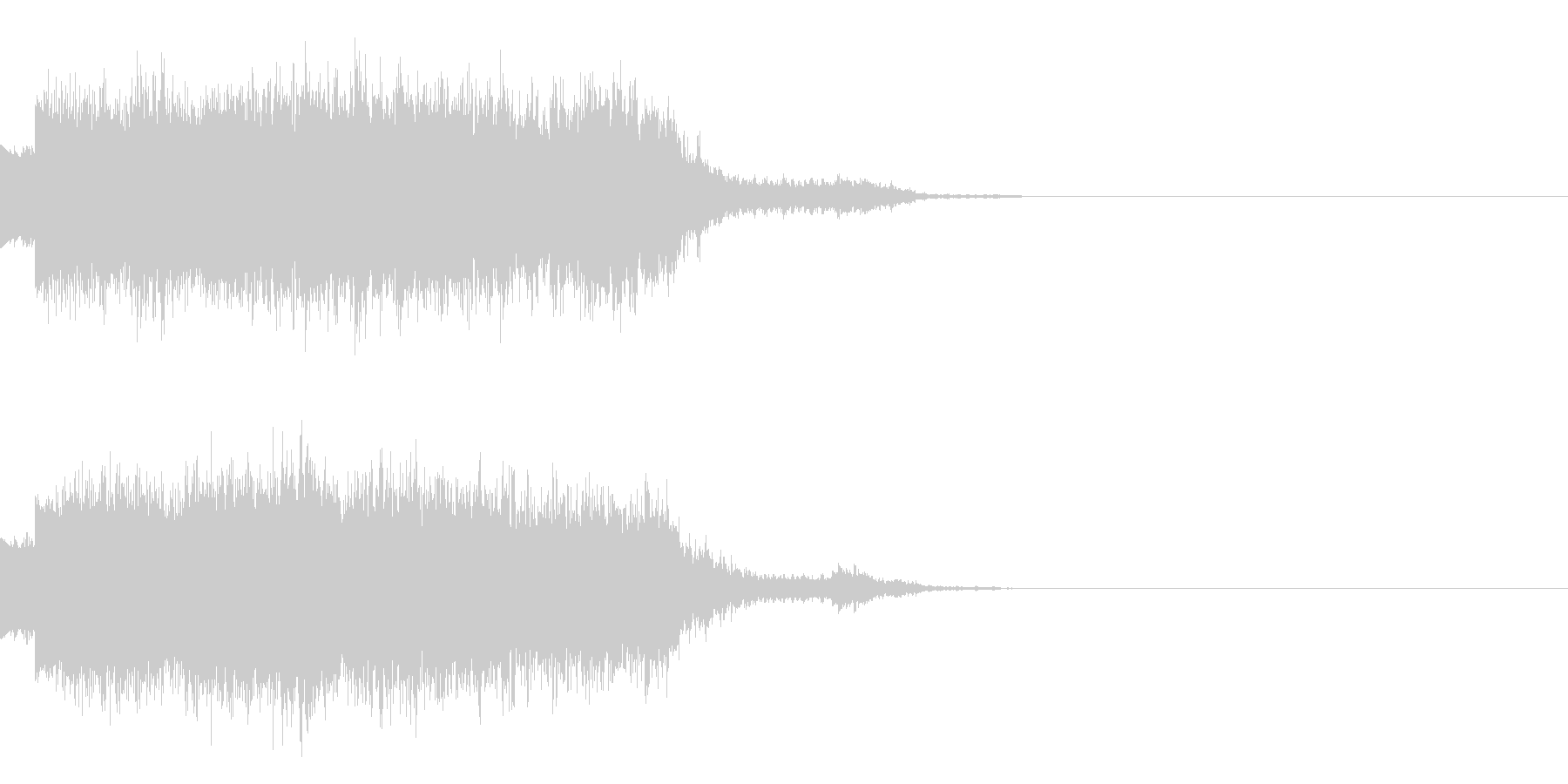 シュワーン(魔法エフェクト発動)の未再生の波形
