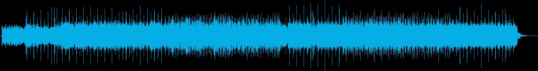 リフがクールなロックギター曲の再生済みの波形
