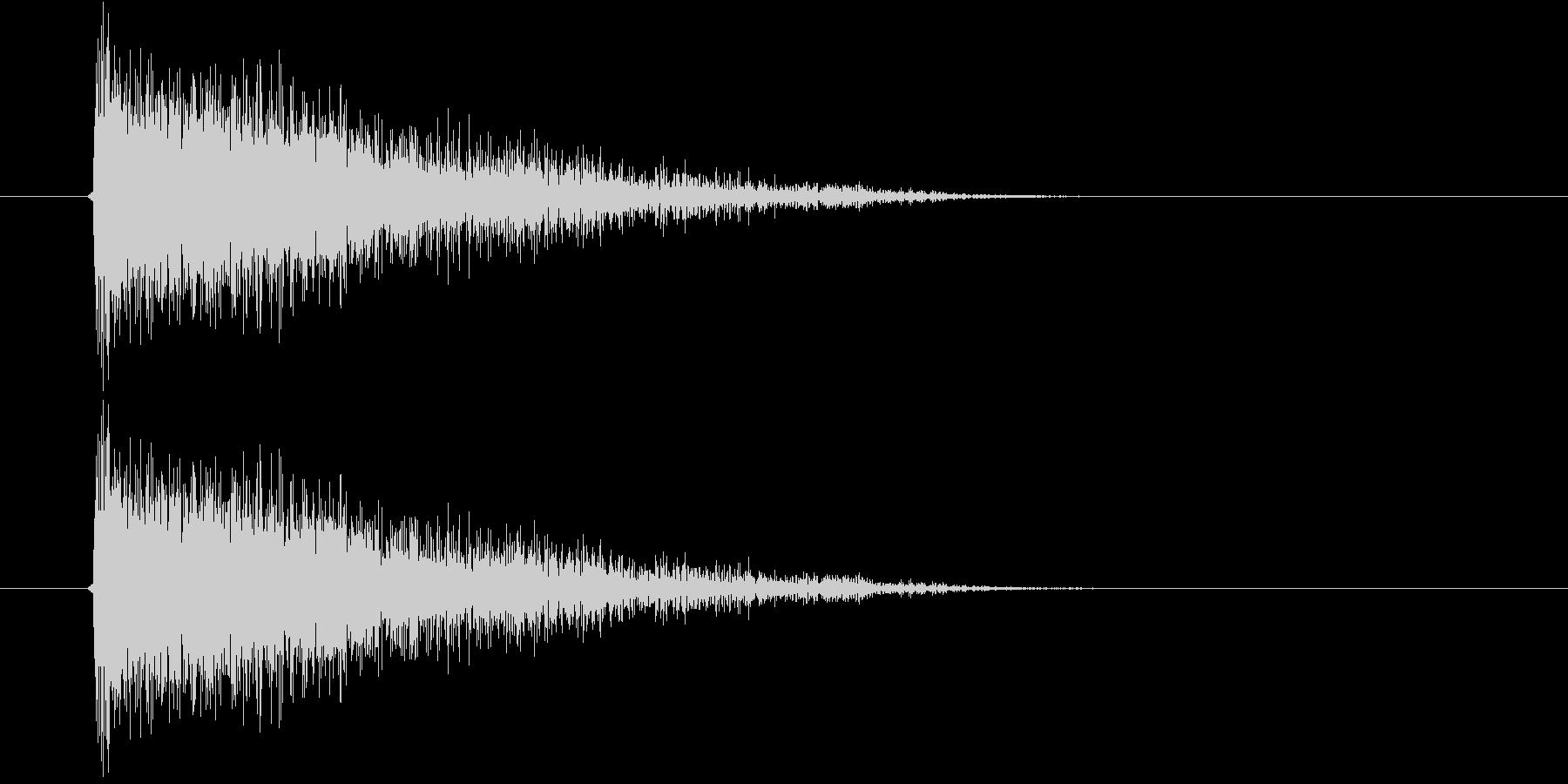 ジャーン(オーケストラのような決定音)の未再生の波形