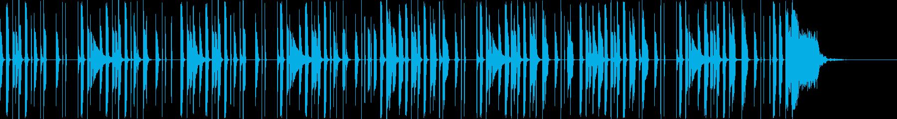 軽やかでシンプルなリズムのBGMの再生済みの波形