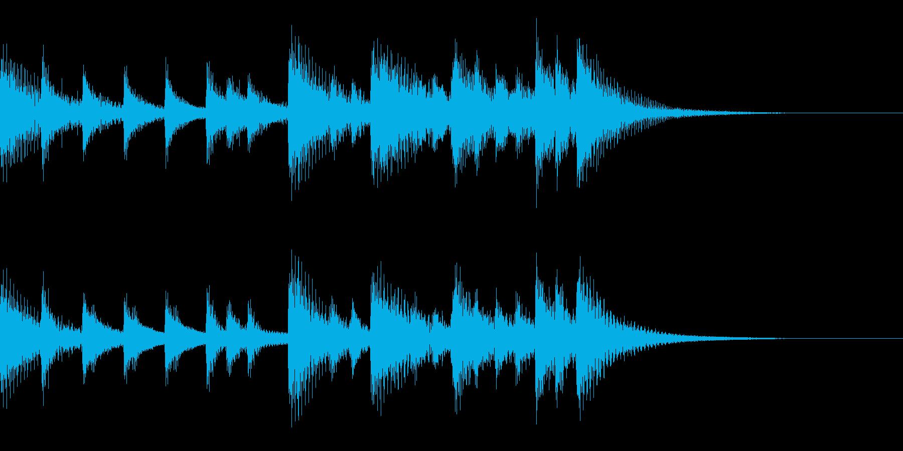 サウンドロゴ【和風】琴三味線日本ジングルの再生済みの波形
