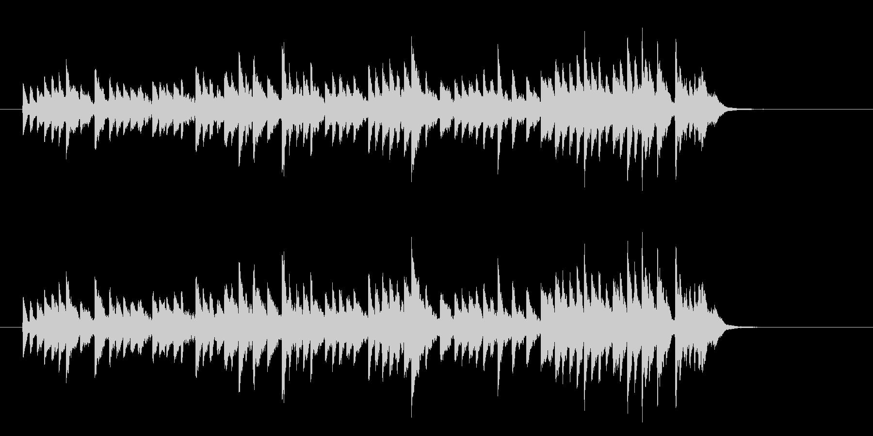 オープニングの幕開け用30秒のベルBGMの未再生の波形