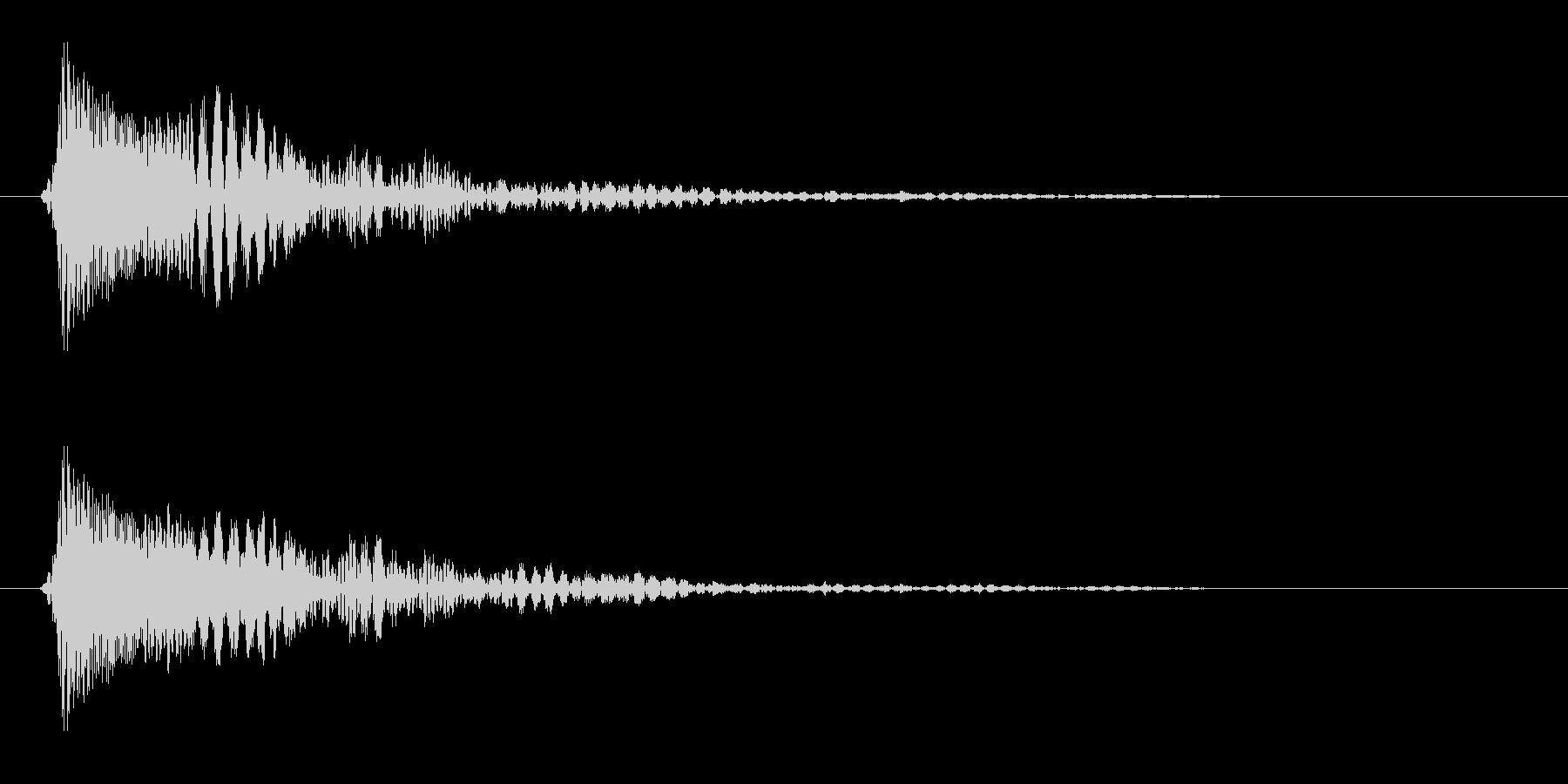 ピコ(選択肢をクリック、決定)の未再生の波形