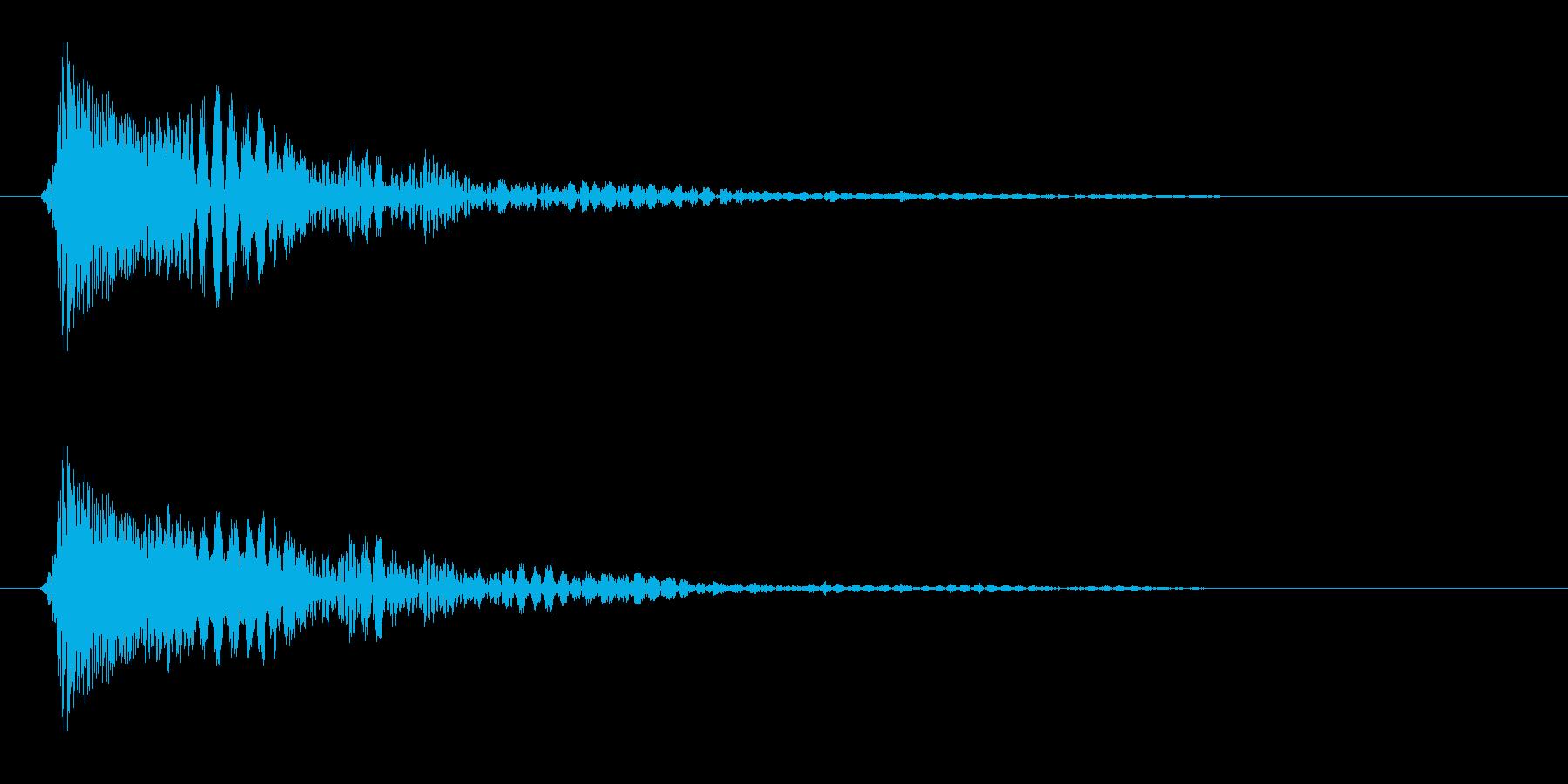 ピコ(選択肢をクリック、決定)の再生済みの波形