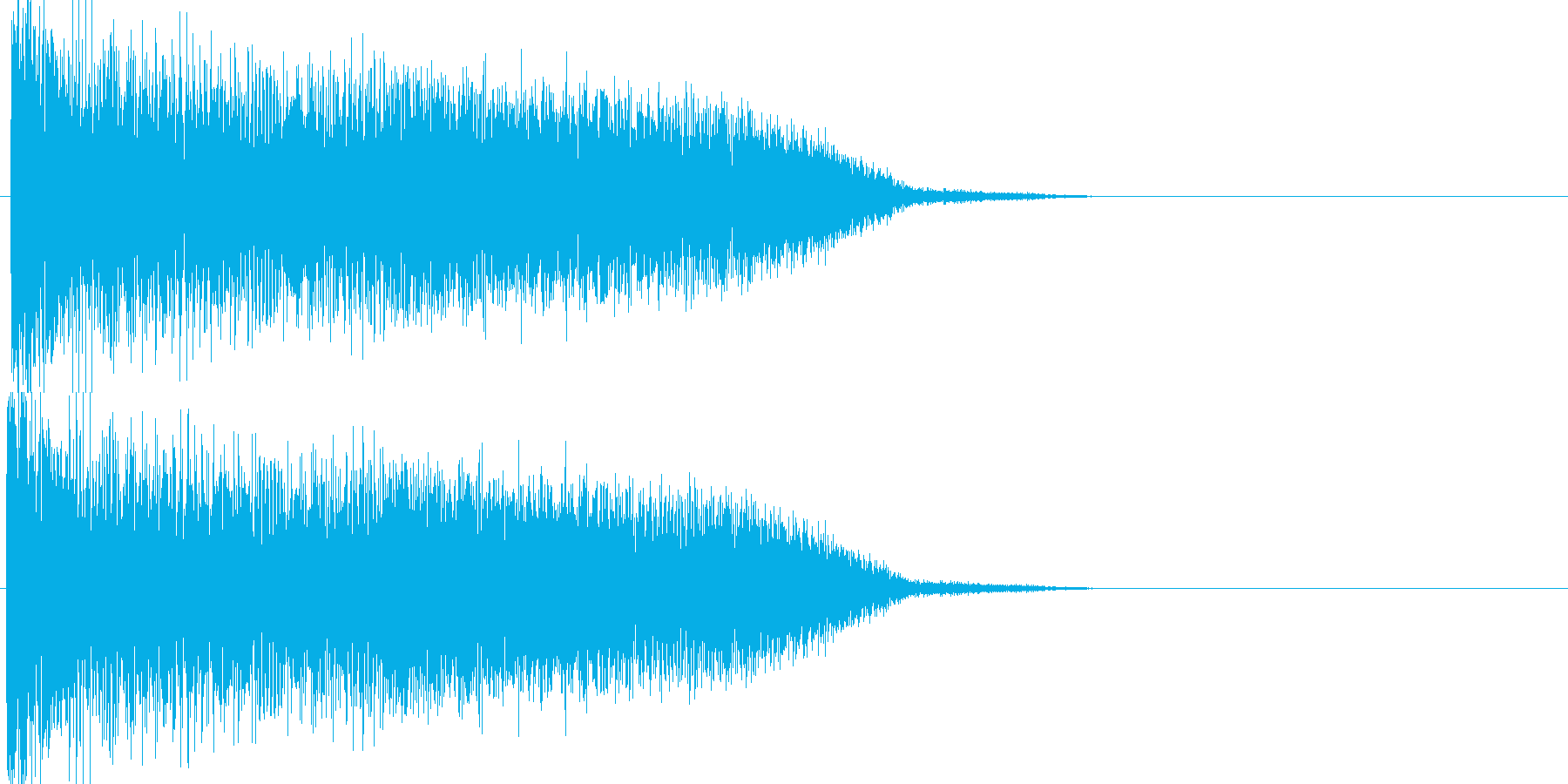 ワープ音04の再生済みの波形