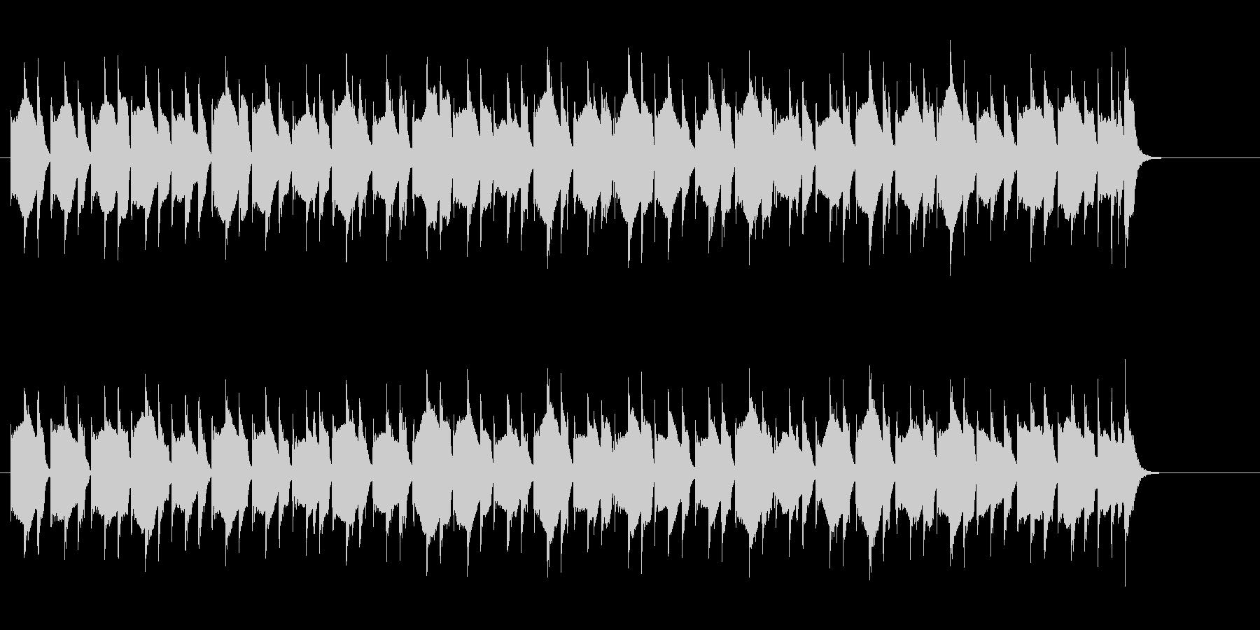 単調ながらキュートな音色のドキュメントの未再生の波形