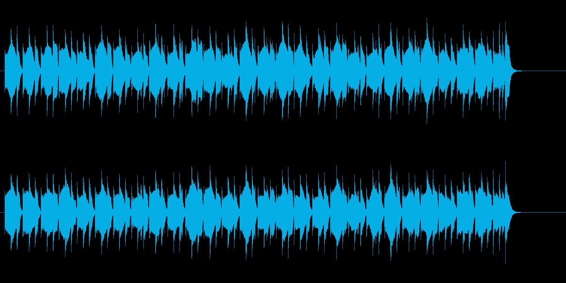 単調ながらキュートな音色のドキュメントの再生済みの波形