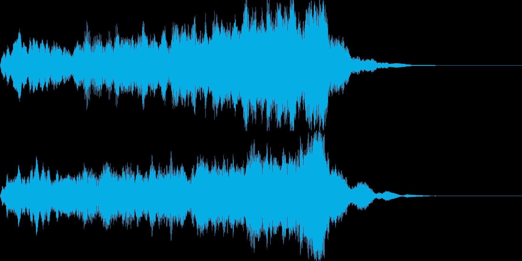 コーラスクワイヤ 男女合唱 サウンドロゴの再生済みの波形