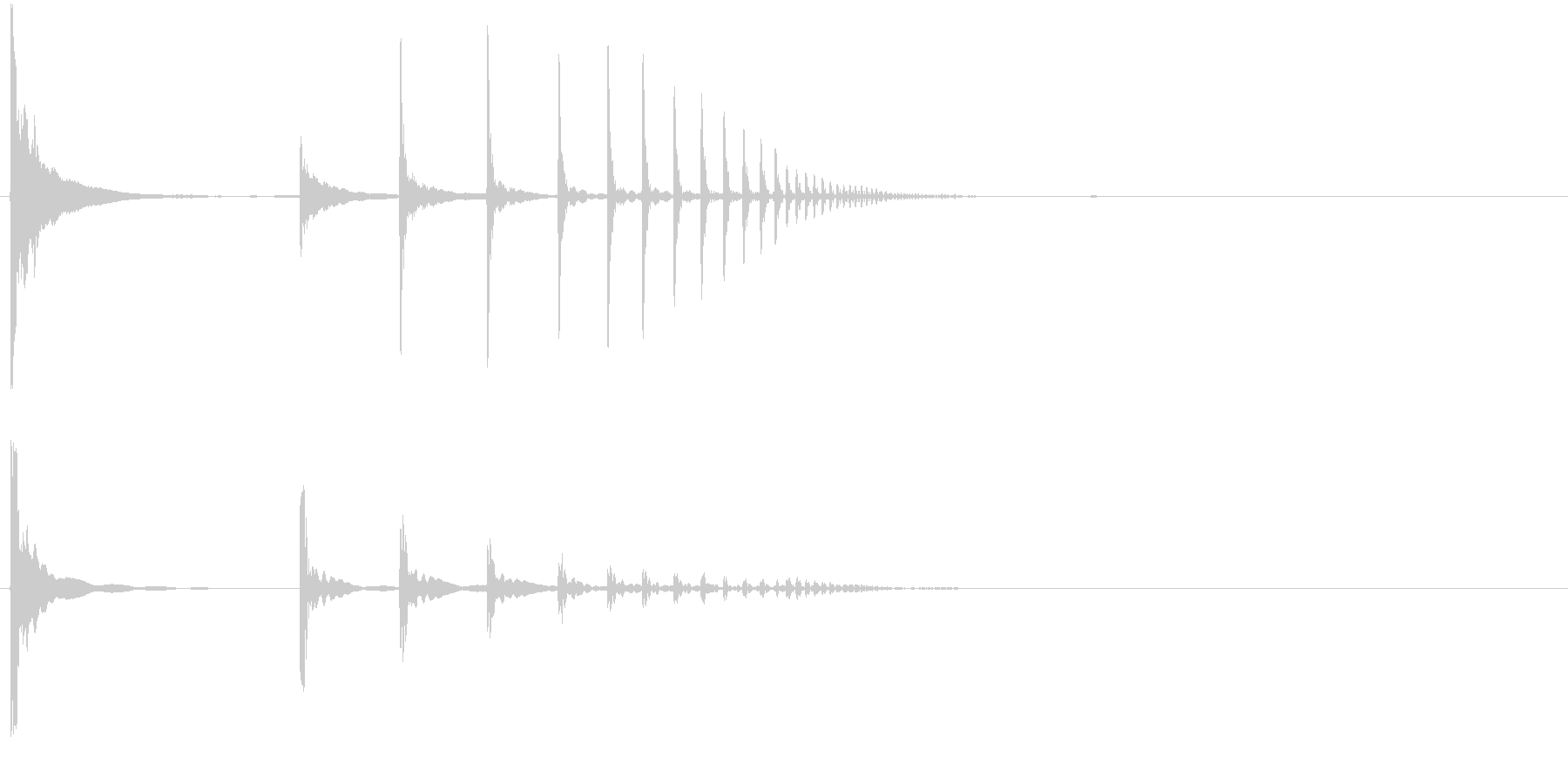 小物体の落下音の未再生の波形