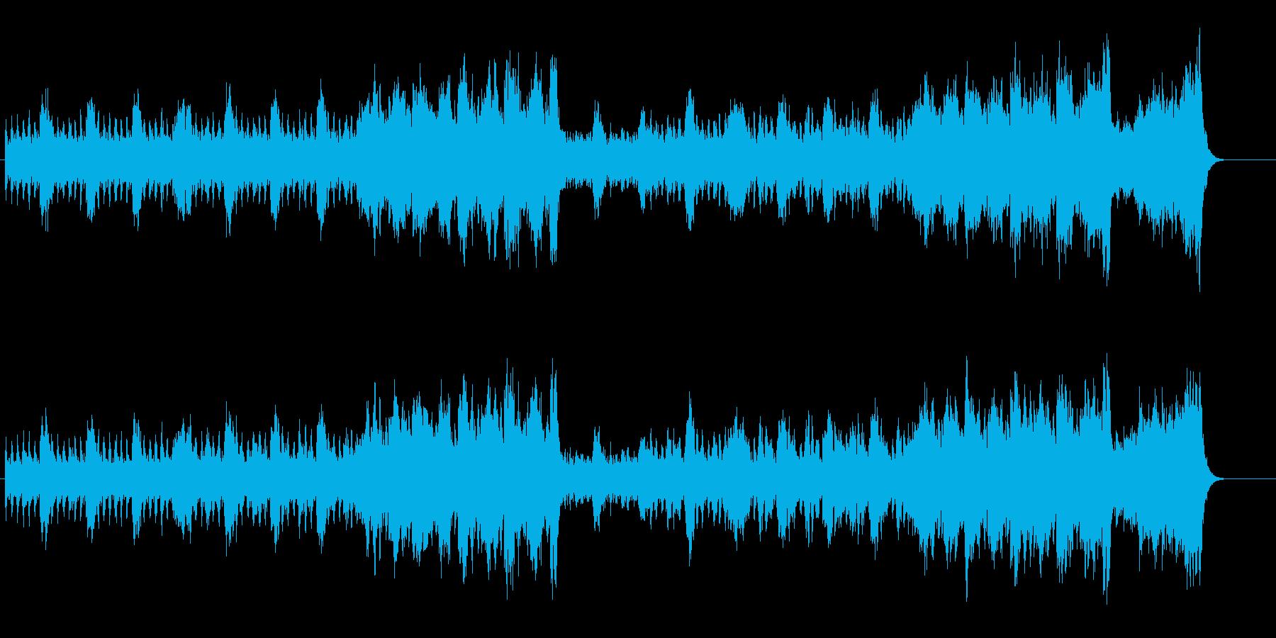 スリリングなイメージのクラシカルBGMの再生済みの波形