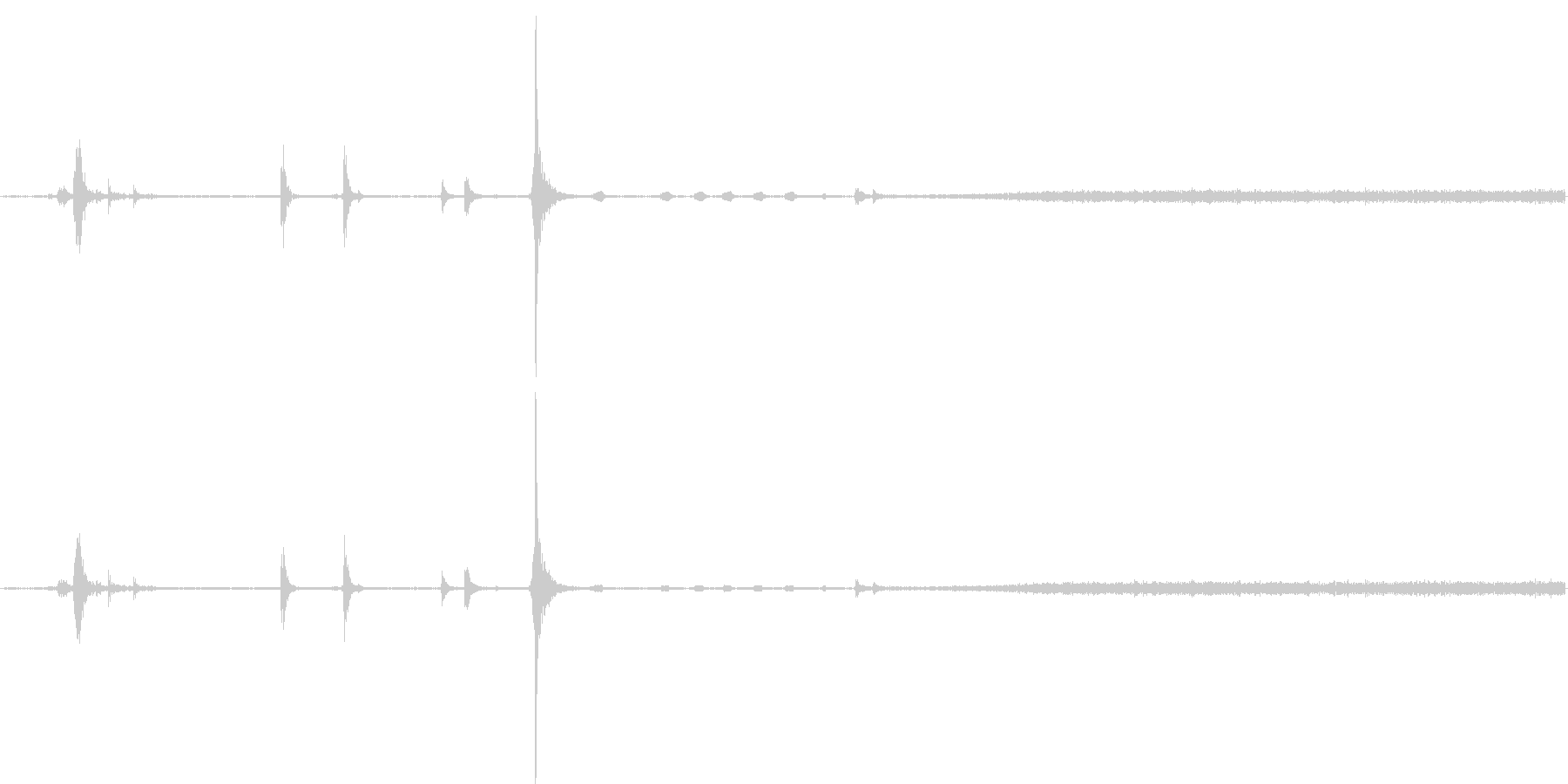 電子レンジの開閉音・稼働音ですの未再生の波形
