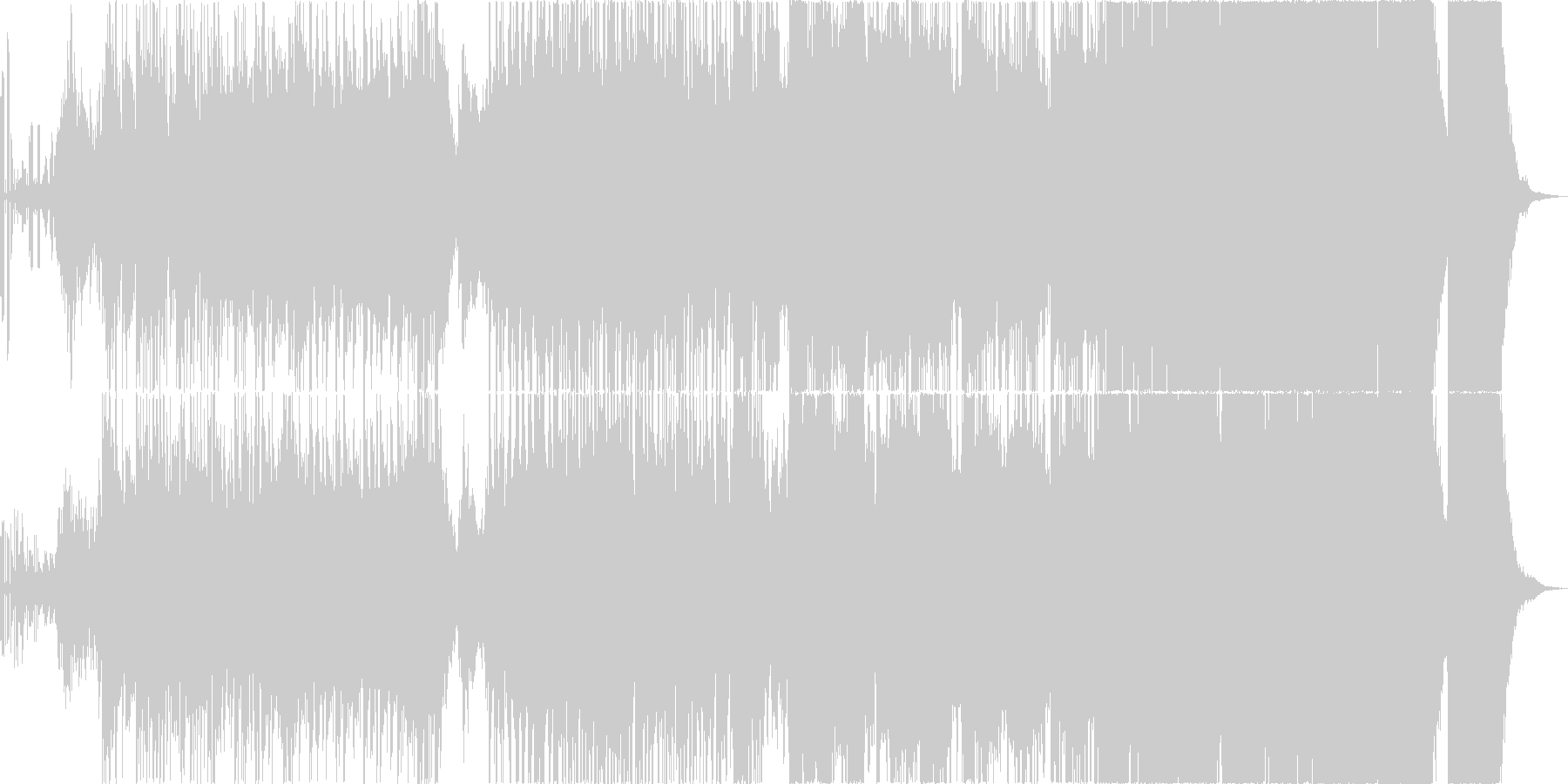 電子音楽とオーケストラの組曲の未再生の波形
