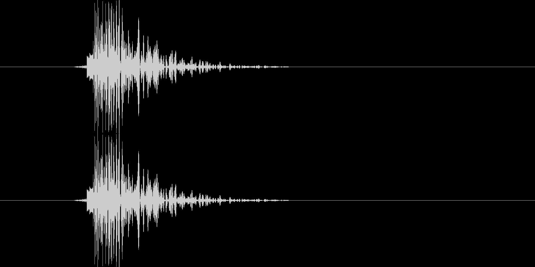 カッ(カーソル移動時)の未再生の波形