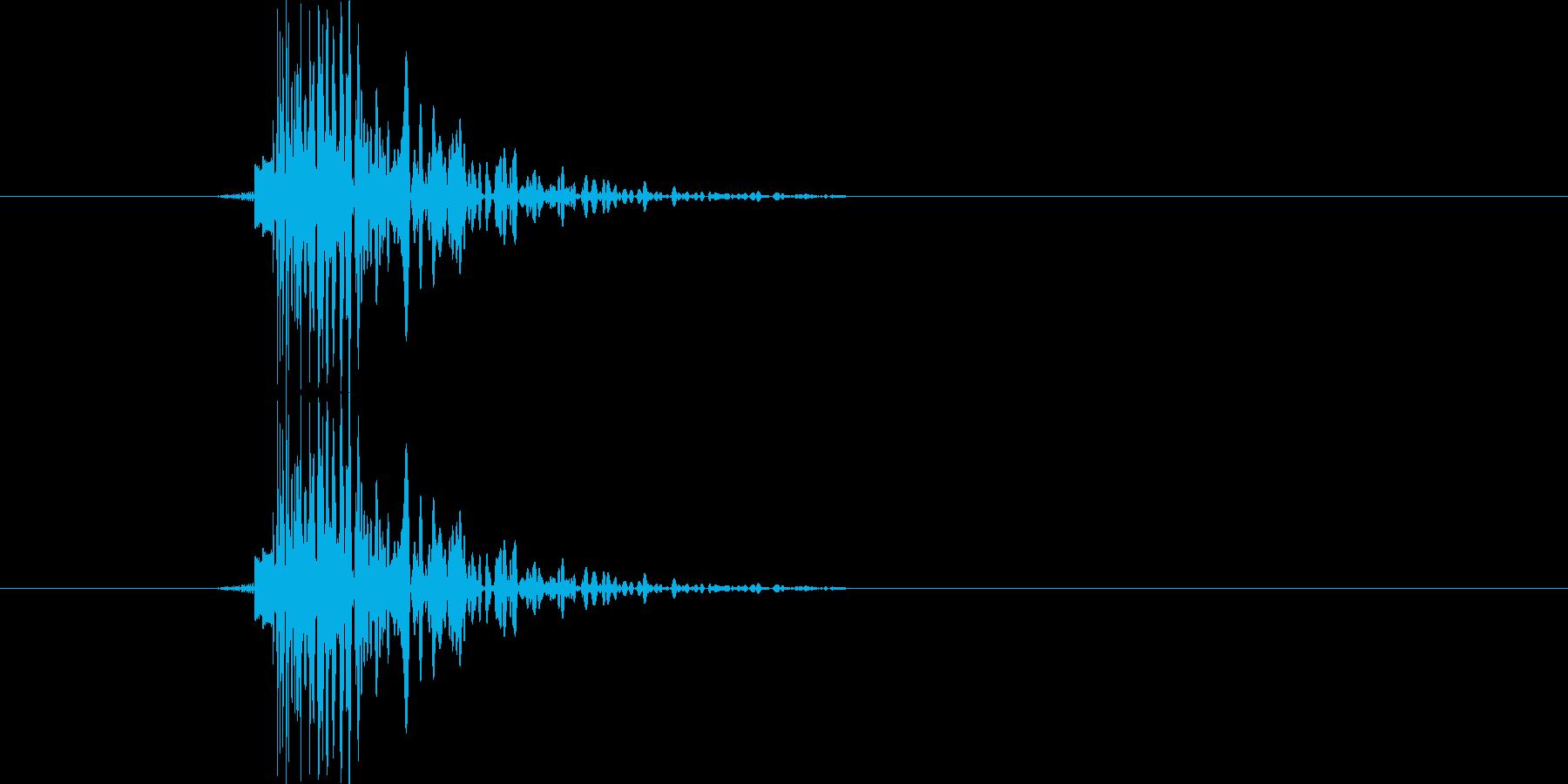 カッ(カーソル移動時)の再生済みの波形