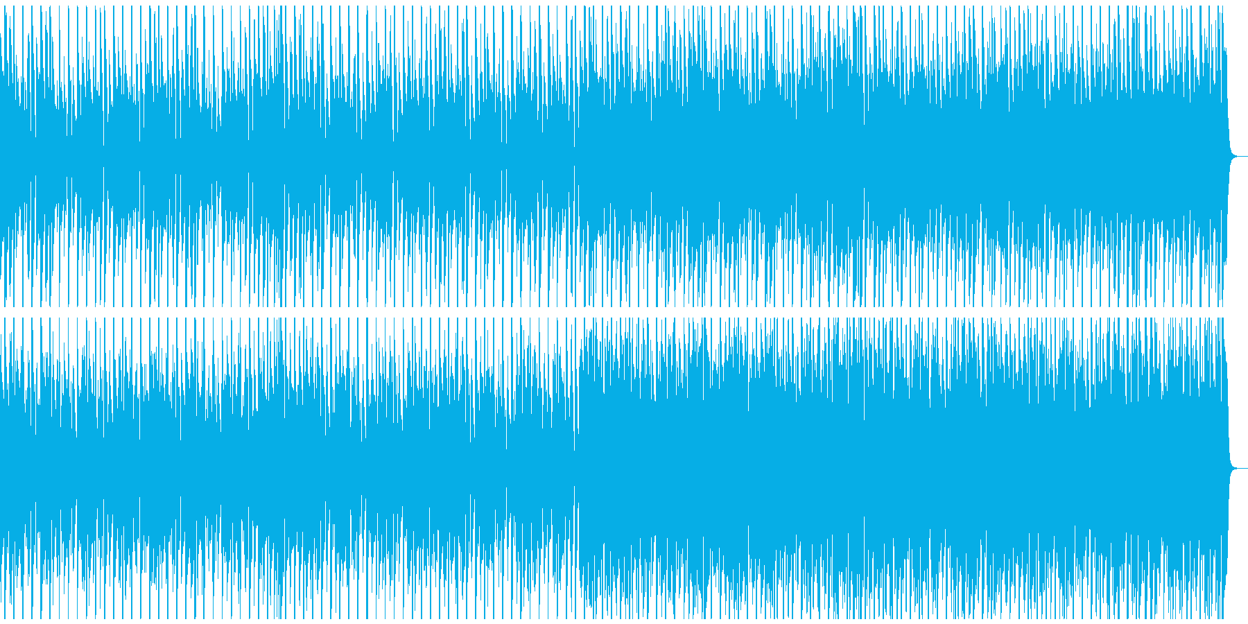 ジングルベル 南国風 鈴入り&メロ抜きの再生済みの波形