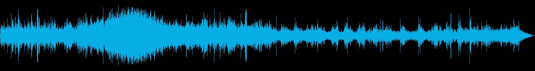 帰宅を急ぐ足音の効果音の再生済みの波形