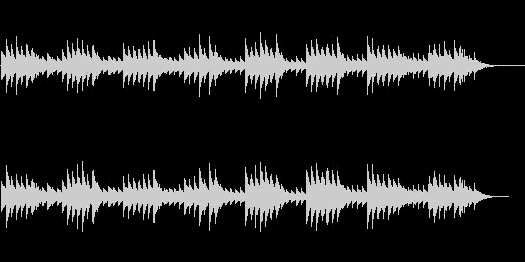 モーツァルトの子守唄(オルゴール)の未再生の波形