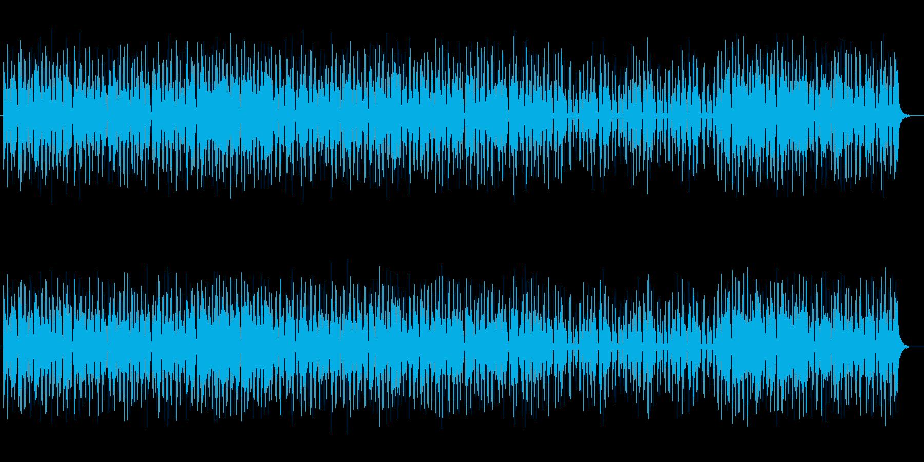 不規則なテンポの魅惑的なミュージックの再生済みの波形