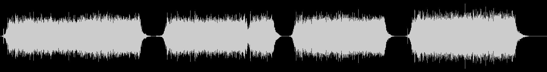 ドライヤーの音の未再生の波形