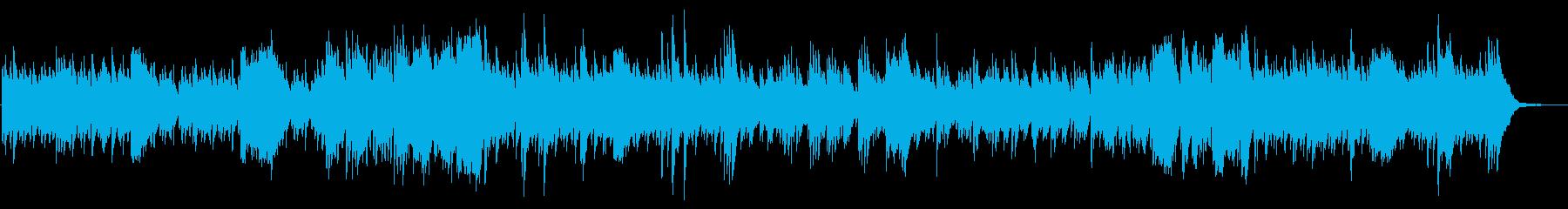 ハープ曲、ファンタジーの世界の再生済みの波形