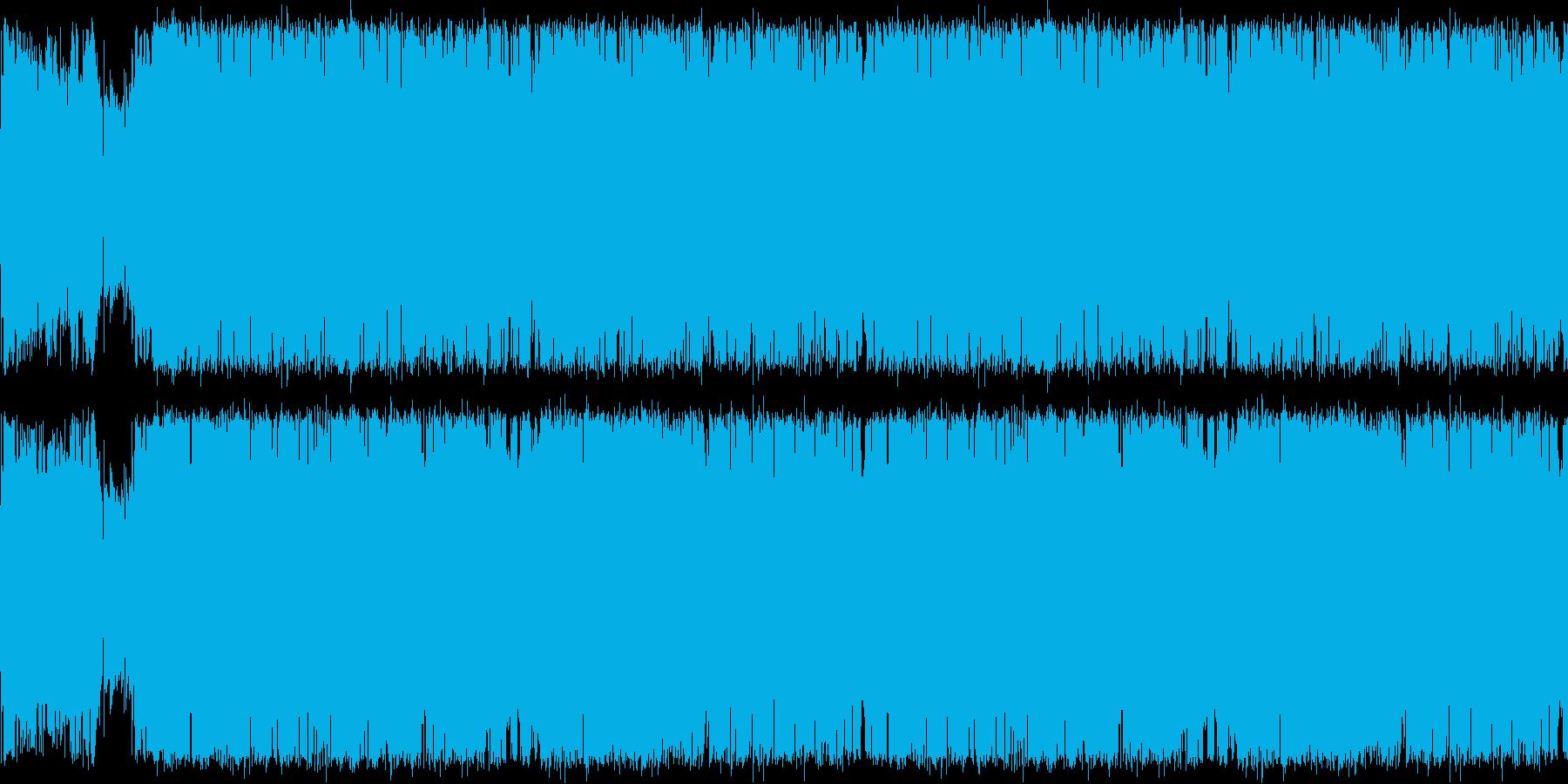 明るく情熱的なギターロック オープニングの再生済みの波形