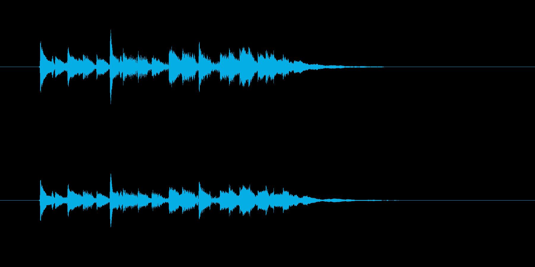 ギター(ラテン風効果音)の再生済みの波形