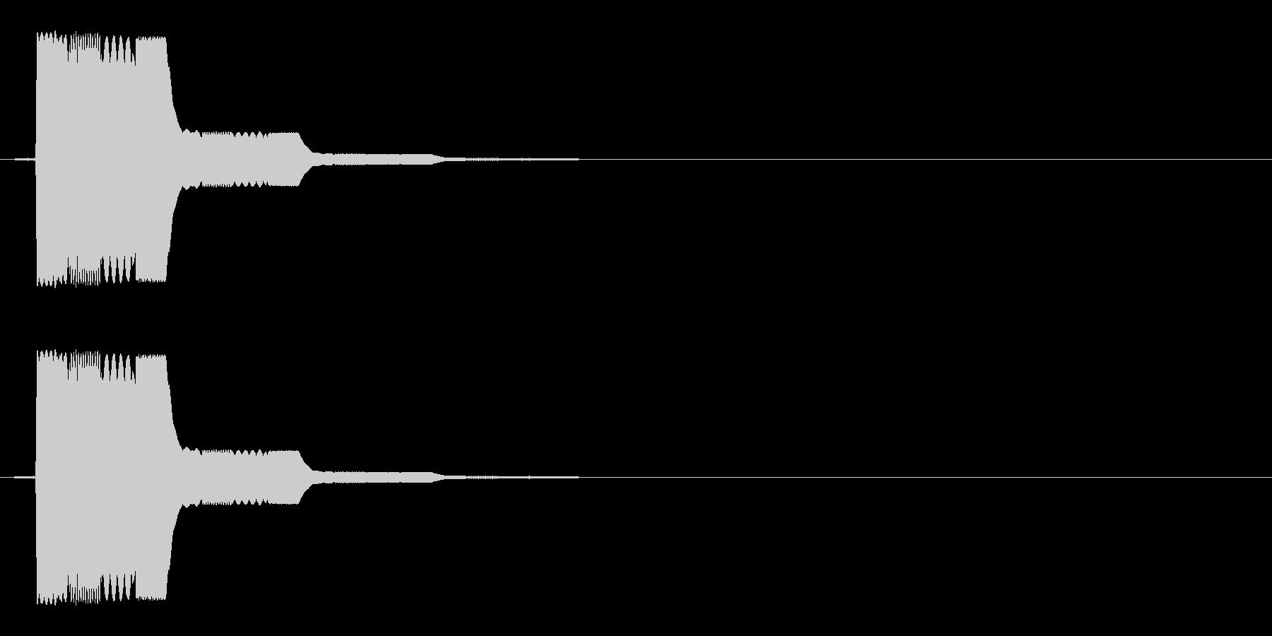 ピロ(ゲームの決定音などに)の未再生の波形