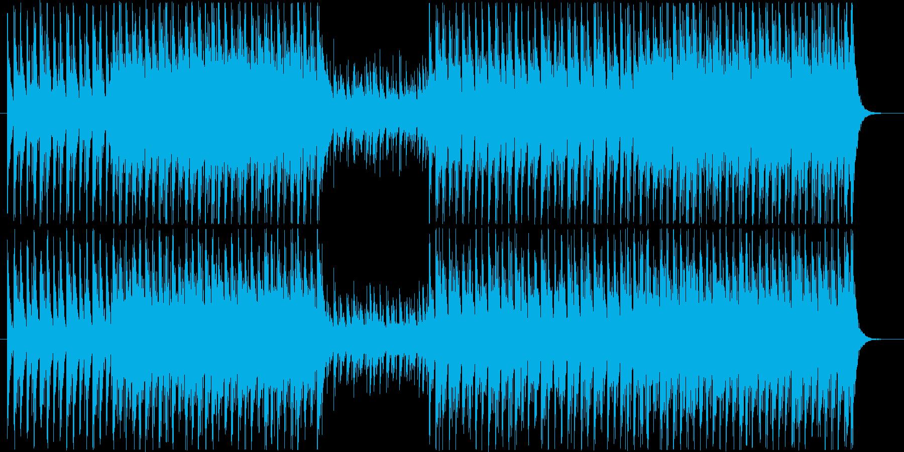 前回よりも少しテンポを上げた太鼓のBG…の再生済みの波形