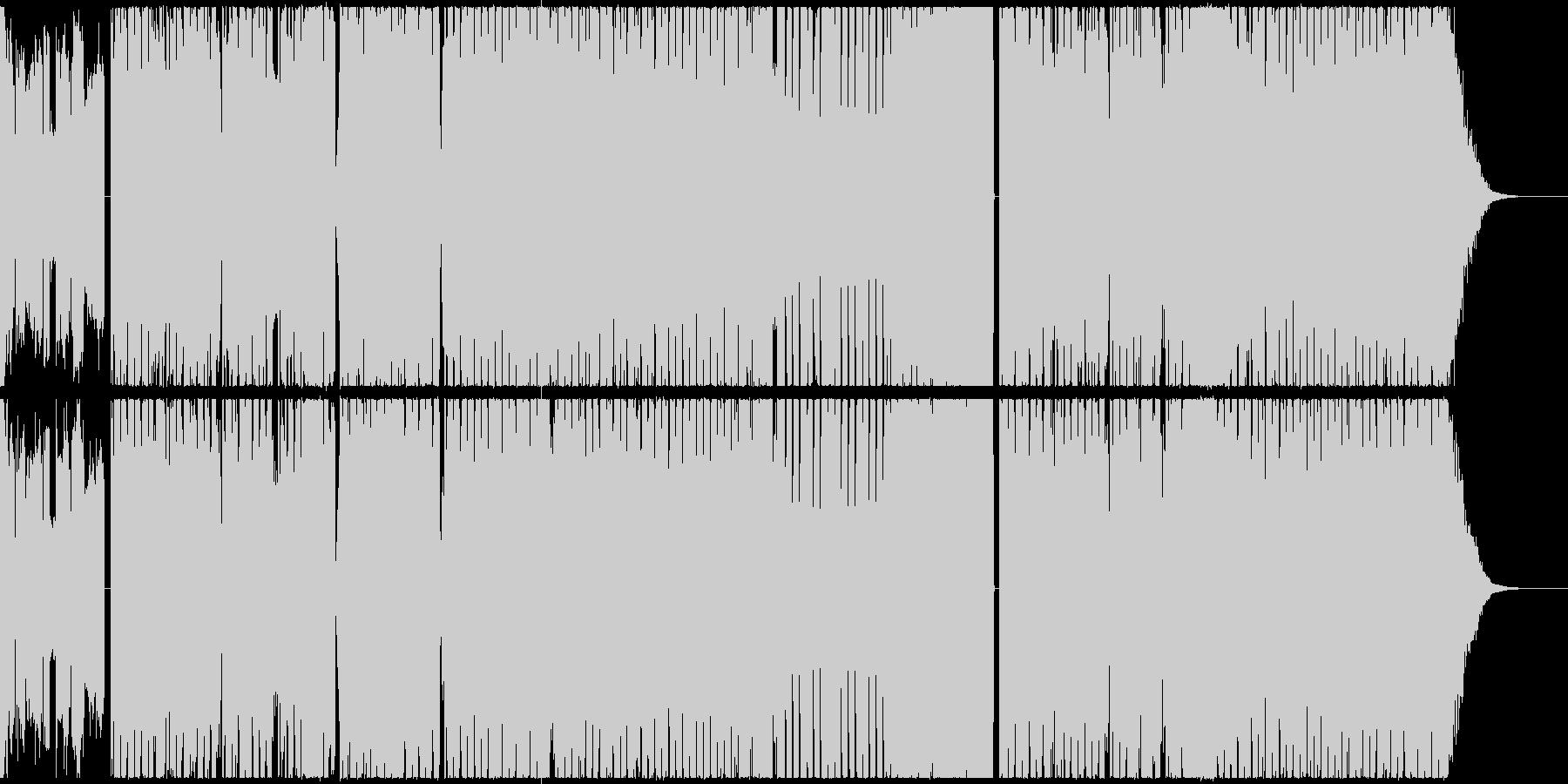 堂々としていてパワフルなエレクトロの未再生の波形