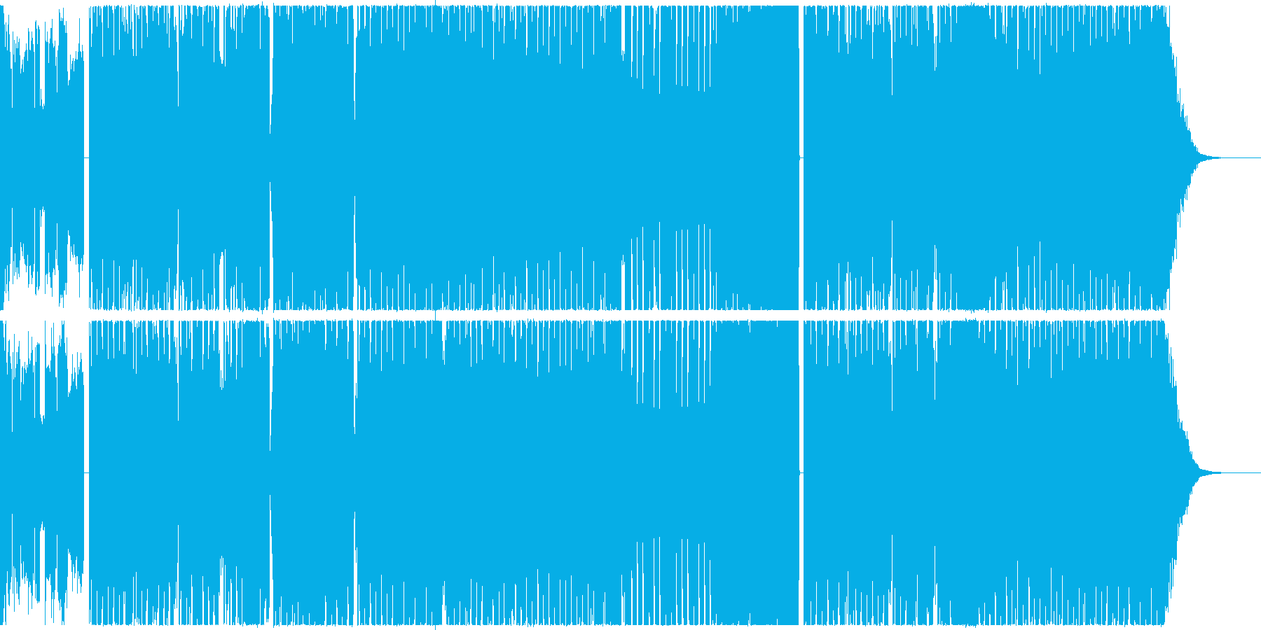 堂々としていてパワフルなエレクトロの再生済みの波形