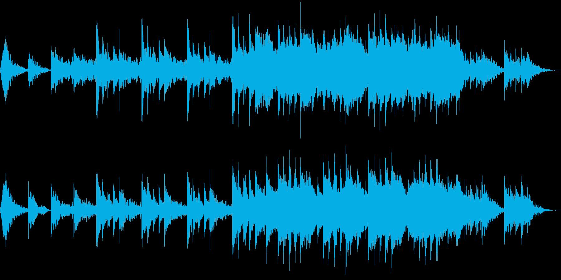 幻想的で広がりのある和風楽曲の再生済みの波形
