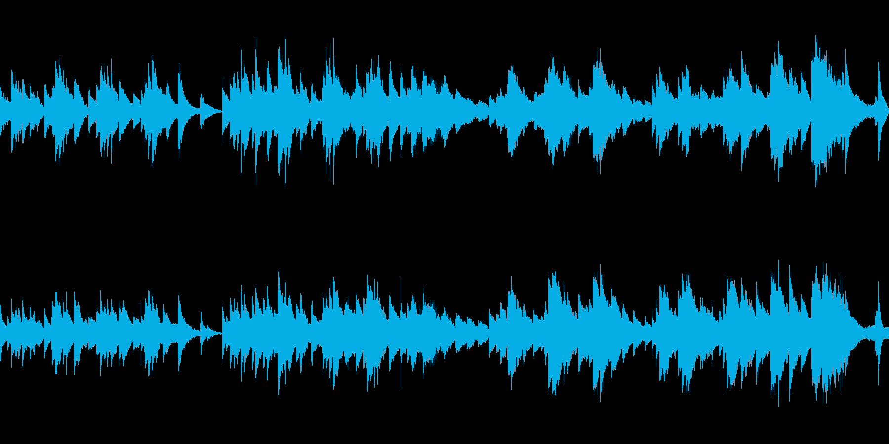 お天気予報で流れてそうなループ曲の再生済みの波形